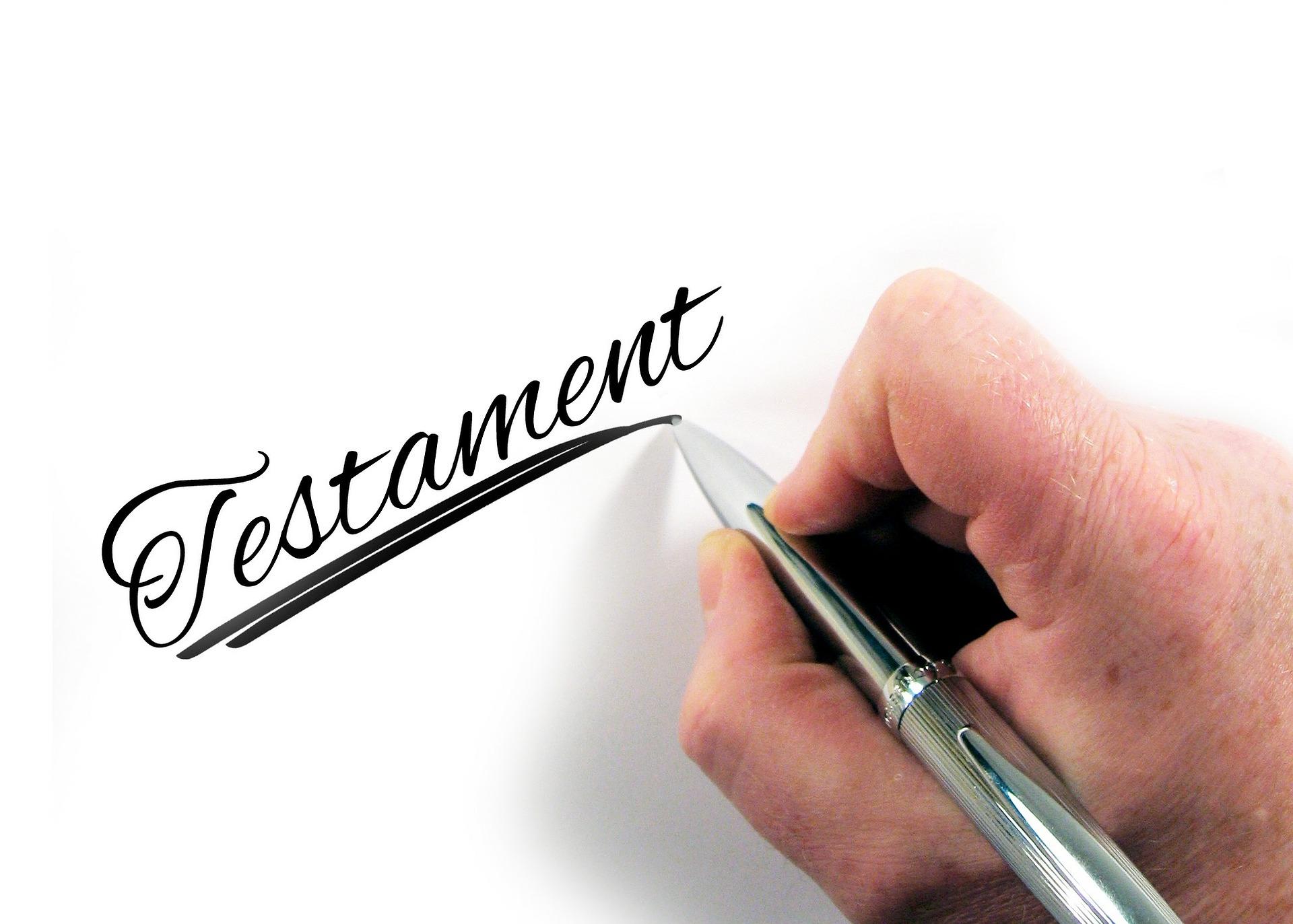 testament et succession