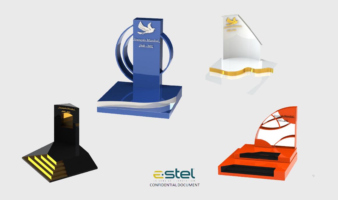 La gamme de monuments cinéraires E-STEL