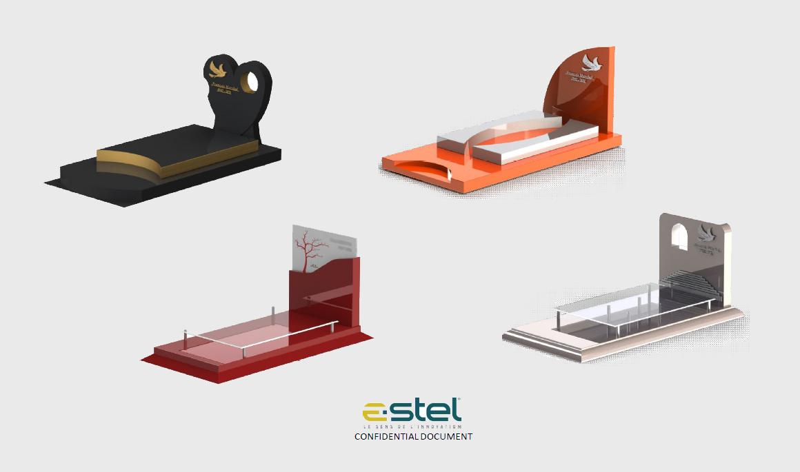 La gamme de monuments funéraires E-STEL