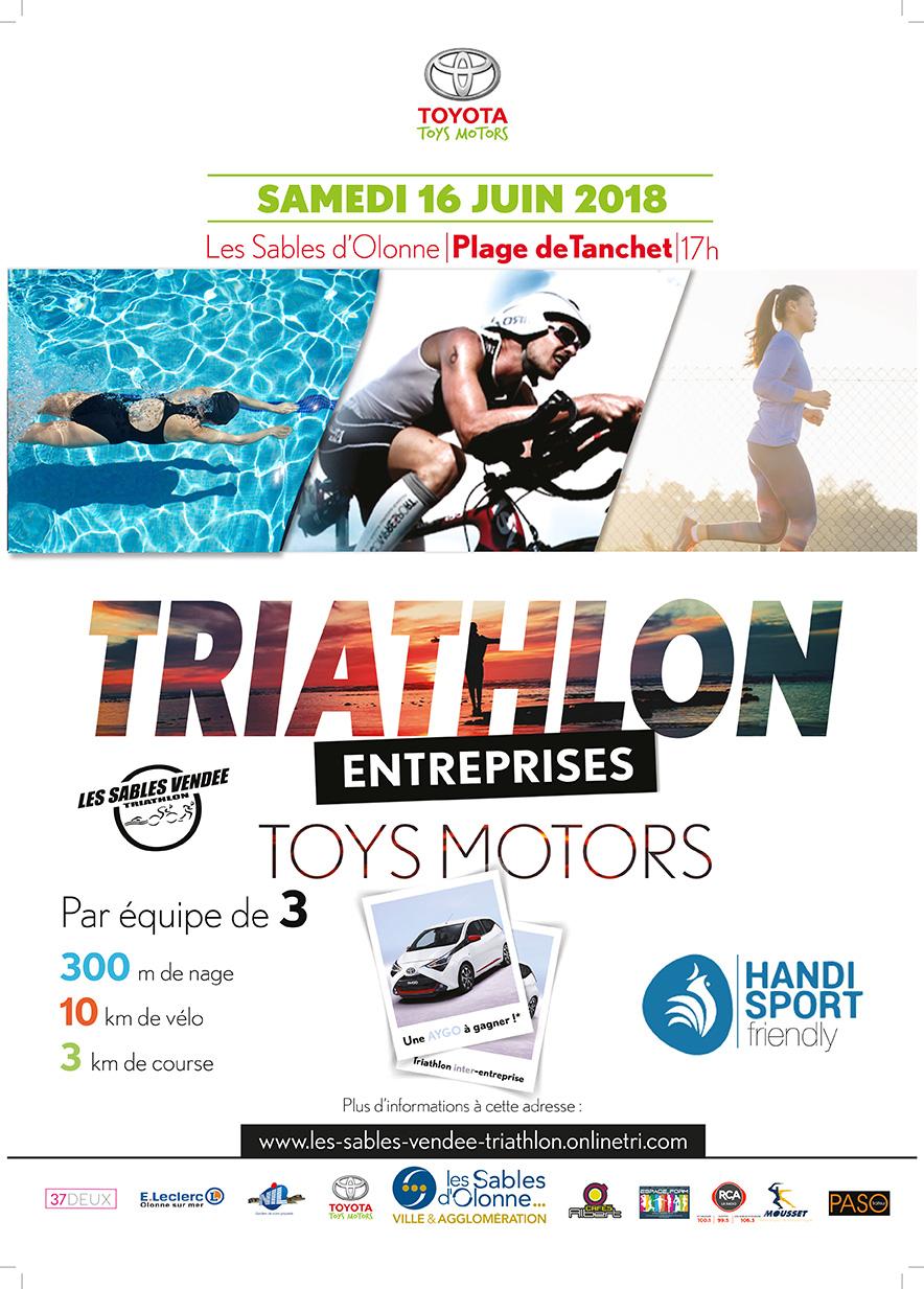 Participation au triathlon entreprises Les Sables d'Olonne