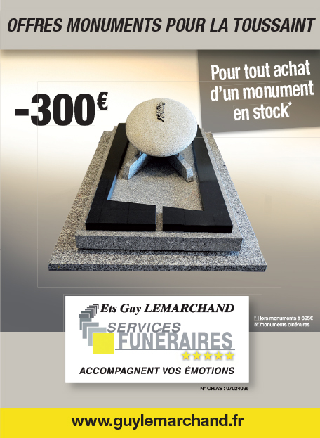 Offres Monuments pour La Toussaint -300 euros