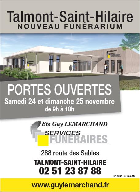 Nouveau funérarium de Talmont-Saint-Hilaire : Portes ouvertes les 24 et 25 novembre 2018