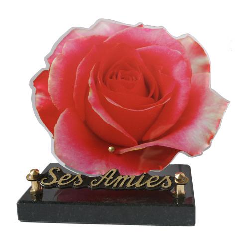 Plaques funéraires fleurs